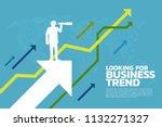 silhouette of businessman... | Shutterstock .eps vector #1132271327