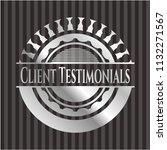 client testimonials silver... | Shutterstock .eps vector #1132271567