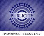 publicity emblem with denim... | Shutterstock .eps vector #1132271717
