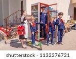 russia samara may 2018 ... | Shutterstock . vector #1132276721