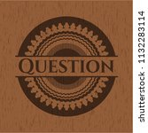 question wood signboards | Shutterstock .eps vector #1132283114