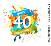 forty years anniversary. vector ... | Shutterstock .eps vector #1132283621