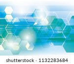 blue hexagon background | Shutterstock . vector #1132283684