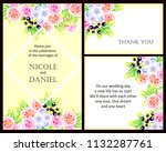 invitation with floral... | Shutterstock . vector #1132287761