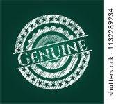 genuine chalk emblem | Shutterstock .eps vector #1132289234