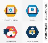 cloud storage  secure network ... | Shutterstock .eps vector #1132290731