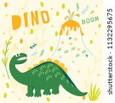 the frightened dinosaur watch...   Shutterstock .eps vector #1132295675