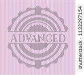 advanced badge with pink... | Shutterstock .eps vector #1132297154