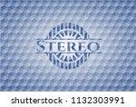 stereo blue emblem or badge... | Shutterstock .eps vector #1132303991