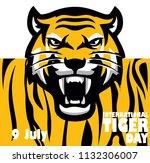 international tiger day | Shutterstock .eps vector #1132306007
