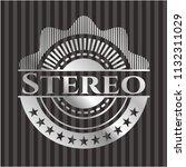 stereo silver shiny emblem | Shutterstock .eps vector #1132311029
