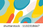 abstract art color vector... | Shutterstock .eps vector #1132318667