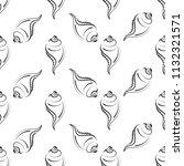 conch a marine mollusc  conch... | Shutterstock .eps vector #1132321571