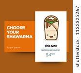 shawarma recipe app design | Shutterstock .eps vector #1132325267