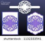laser cut wedding invitation... | Shutterstock .eps vector #1132333541