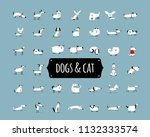 cute dogs collection for your... | Shutterstock .eps vector #1132333574