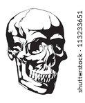 human skull anatomy sketch   Shutterstock .eps vector #113233651