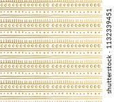 hand drawn golden oriental... | Shutterstock .eps vector #1132339451