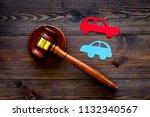 car accident lawsuit concept.... | Shutterstock . vector #1132340567