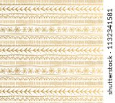 floral pattern with golden... | Shutterstock .eps vector #1132341581