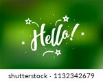 hello card. beautiful greeting... | Shutterstock .eps vector #1132342679