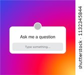 instagram ask me a question... | Shutterstock .eps vector #1132345844