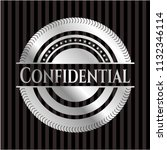 confidential silver emblem | Shutterstock .eps vector #1132346114