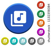 music library round color... | Shutterstock .eps vector #1132358384