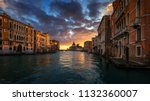 grand canal at sunrise in... | Shutterstock . vector #1132360007