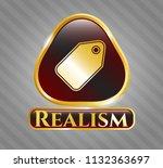 golden emblem or badge with... | Shutterstock .eps vector #1132363697