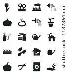 set of vector isolated black... | Shutterstock .eps vector #1132364555