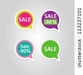 vector labels stickers with... | Shutterstock .eps vector #113237101