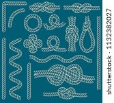 rope knots borders thin line...   Shutterstock .eps vector #1132382027