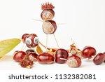 chestnut figures made from... | Shutterstock . vector #1132382081