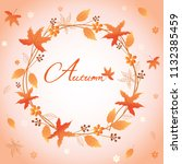 autumn wreath design... | Shutterstock .eps vector #1132385459