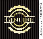 genuine gold emblem | Shutterstock .eps vector #1132386284