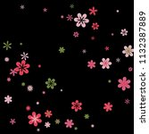 cute floral pattern with simple ...   Shutterstock .eps vector #1132387889