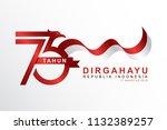 celebrate 73 tahun indonesia... | Shutterstock .eps vector #1132389257