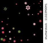 cute floral pattern with simple ...   Shutterstock .eps vector #1132390091