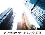 glass curtain wall building in... | Shutterstock . vector #1132391681