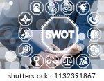 swot   strengths weaknesses...   Shutterstock . vector #1132391867