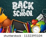 back to school with school... | Shutterstock .eps vector #1132395104