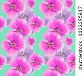 geranium  pelargonium. texture... | Shutterstock . vector #1132395617