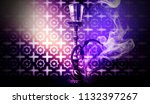 hookah with smoke on the... | Shutterstock . vector #1132397267