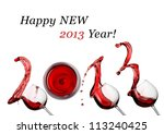 Red Wine Splash Happy New 2013...
