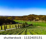 hills of the sienese and... | Shutterstock . vector #1132405151