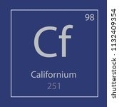 californium cf chemical element ... | Shutterstock .eps vector #1132409354