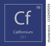 californium cf chemical element ... | Shutterstock .eps vector #1132409354