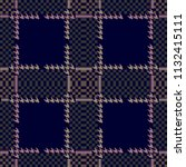 creative checkered hounds tooth ... | Shutterstock .eps vector #1132415111