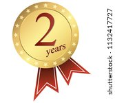 gold jubilee button 2 years | Shutterstock .eps vector #1132417727